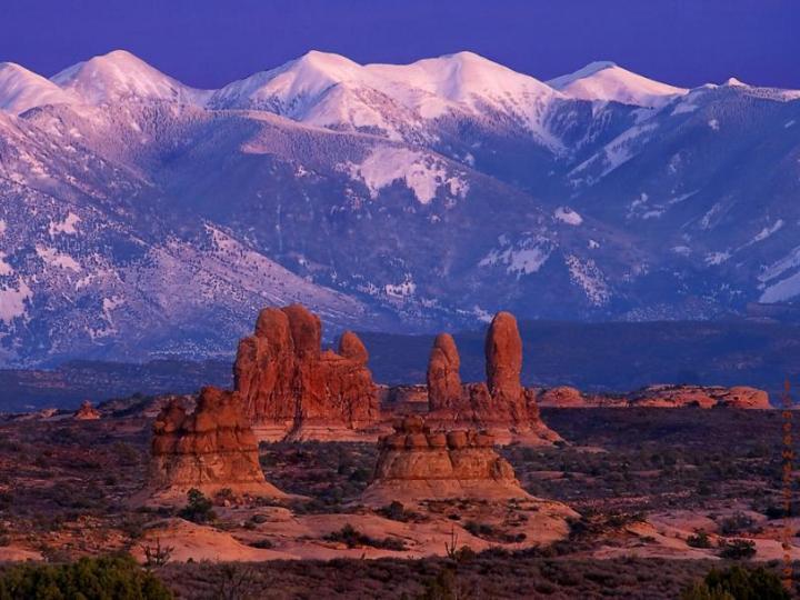 Arches National Park Desert Mountains Plains Utah